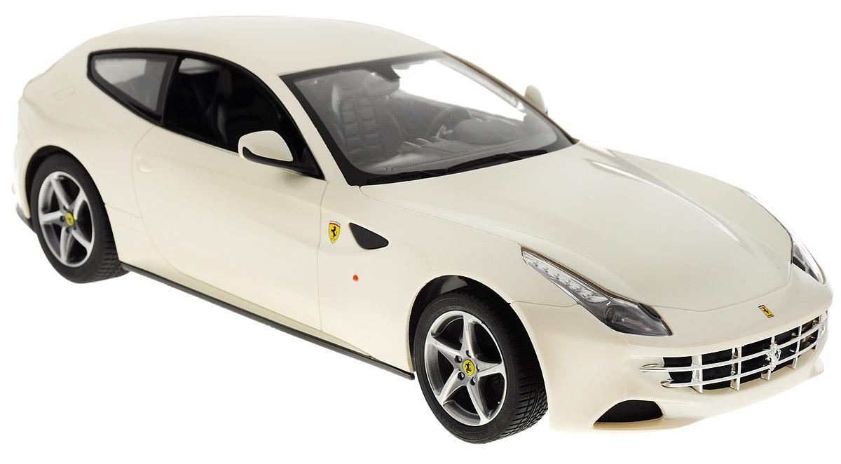 """Радиоуправляемая модель Rastar """"Ferrari FF"""" станет отличным подарком любому мальчику! Все дети хотят иметь в наборе своих игрушек ослепительные, невероятные и крутые автомобили на радиоуправлении. Тем более, если это автомобиль известной марки с проработкой всех деталей, удивляющий приятным качеством и видом. Одной из таких моделей является автомобиль на радиоуправлении Rastar """"Ferrari FF"""". Это точная копия настоящего авто в масштабе 1:14. Авто обладает неповторимым провокационным стилем и спортивным характером. А серьезные габариты придают реалистичность в управлении. Автомобиль отличается потрясающей маневренностью, динамикой и покладистостью. Возможные движения: вперед, назад, вправо, влево, остановка. Имеются световые эффекты. Пульт управления работает на частоте 27 MHz. Для работы игрушки необходимы 5 батареек типа АА (не входят в комплект). Для работы пульта управления необходима 1 батарейка 9V (6F22) (не входит в комплект)."""