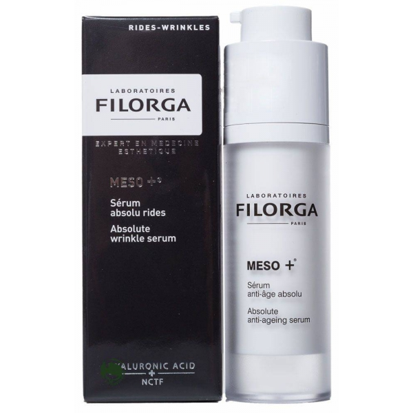 Filorga Сыворотка Meso+ против старения 30 млFS-00897Комплексно воздействует на все этапы старения: стимулирует, разглаживает,восстанавливает. Сыворотка является настоящим ускорителем коллагена, состоящим из молекулы NCTF, широко применяемой в космезотерапии, и фрагментов ДНК, обладает мощным увлажняющим и антиоксидантным эффектом, восстанавливает фибробласты: эксклюзивный коктейль стимулирует клеточную активность дермы для укрепления и восстановления кожи. Параллельно ретинол разглаживает кожу лица, устраняя морщины и выравнивая рельеф. Шелковистая текстура на водной основе мгновенно впитывается, обеспечивая эффект бархатной кожи. Кожа ровная и гладкая, восстановлена на поверхности и в глубине, свежая, отдохнувшая, светится энергией.Кожа ровная, гладкая светится энергией