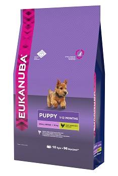 Корм Eukanuba Dog, для щенков мелких пород, 10 кг0120710Корм сухой полнорационный Eukanuba для щенков мелких пород от 1 до 12 месяцев (до 10 кг).Профессиональное сбалансированное питание, специально разработанное с учетом особенностей щенков мелких пород в возрасте от 1 до 12 месяцев.1. ФИЗИЧЕСКАЯ ФОРМА: Высокий уровень животных белков помогает формировать и поддерживать мышечную массу у щенков.2. РОСТ: кальций, эффективность которого клинически доказана, способствует укреплению костей.3. РАЗВИТИЕ: докозагексаеновая кислота (ДГК), эффективность которой клинически доказана, помогает щенкам становиться более смышлеными и способными к обучению и дрессировке.4. ЗАЩИТА: антиоксиданты способствуют поддержанию естественной защиты организма щенков.