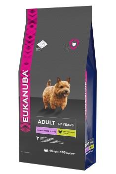 Корм Eukanuba Dog, для взрослых собак мелких пород, 15 кг сухой корм royal canin mini dermacomfort дл собак мелких пород склонных к кожным раздраженим и зуду 2кг 380020
