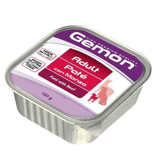 Консервы Gemon Dog, для собак, паштет с говядиной, 150 г0120710Гарантированный анализ: сырой белок 8,5%, сырые масла и жиры 6,0%, сыраяклетчатка 0,4%, сырая зола 1,5%, влажность 80%.Витамины и добавки/кг: витаминА 2500 МЕ, витамин D3 250 МЕ, витамин Е (альфа-токоферол ацетат) 10 мг. Мясо имясные субпродукты 80% (говядина 10%), минеральные вещества.Технологические добавки: загустители и желеобразующие компоненты. Подаватькорм комнатной температуры или подогретый. Важно, чтобы животное всегдаимело доступ к чистой, свежей воде. Взрослой кошке необходимо 400 г продукта вдень, суточную норму разделить на 2-3 приема пищи.