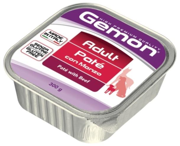 Консервы Gemon Dog, для собак, паштет с говядиной, 300 г70300506Гарантированный анализ: Сырой белок 8,5%, сырые масла и жиры 6,0%, сырая клетчатка 0,4%, сырая зола 1,5%, влажность 80%.Технологические добавки: загустители и желеобразующие компоненты. Витамины и добавки/кг: витамин А 2500 МЕ, витамин D3 250 МЕ, витамин Е (альфа-токоферол ацетат) 10 мг.Мясо и мясные субпродукты 80% (говядина 10%), минеральные вещества. Подавать корм комнатной температуры или подогретый. Важно, чтобы животное всегда имело доступ к чистой, свежей воде. Взрослой кошке необходимо 400 г продукта в день, суточную норму разделить на 2-3 приема пищи. Условия хранения: в прохладном темном месте