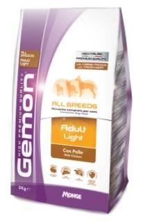 Корм Gemon Dog Light низкокаллорийный для взрослых собак всех пород 3 кг фурминатор для собак короткошерстных пород furminator short hair large dog