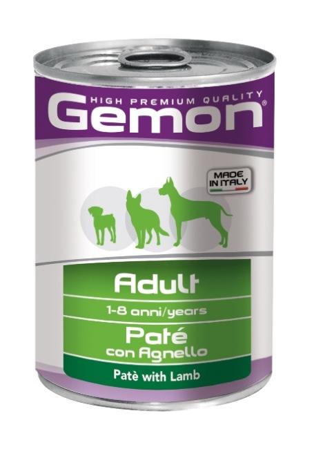 Консервы Gemon Dog, для собак, паштет с ягненком, 400 г0120710Гарантированный анализ: сырой белок 8,0%, сырые масла и жиры 6,5%, сырая клетчатка 0,3%, сырая зола 1,5%, влажность 80%.Витамины и добавки/кг: витамин А 2500 МЕ, витамин D3 250 МЕ, витамин Е (альфа-токоферол ацетат) 10 мг. Мясо и мясные субпродукты 80% (ягненок 9,5%), минеральные вещества. Технологические добавки: загустители и желеобразующие компоненты. Подавать корм комнатной температуры или подогретый. Важно, чтобы животное всегда имело доступ к чистой, свежей воде. Суточная норма составляет 40-50 г продукта на каждый кг веса животного.