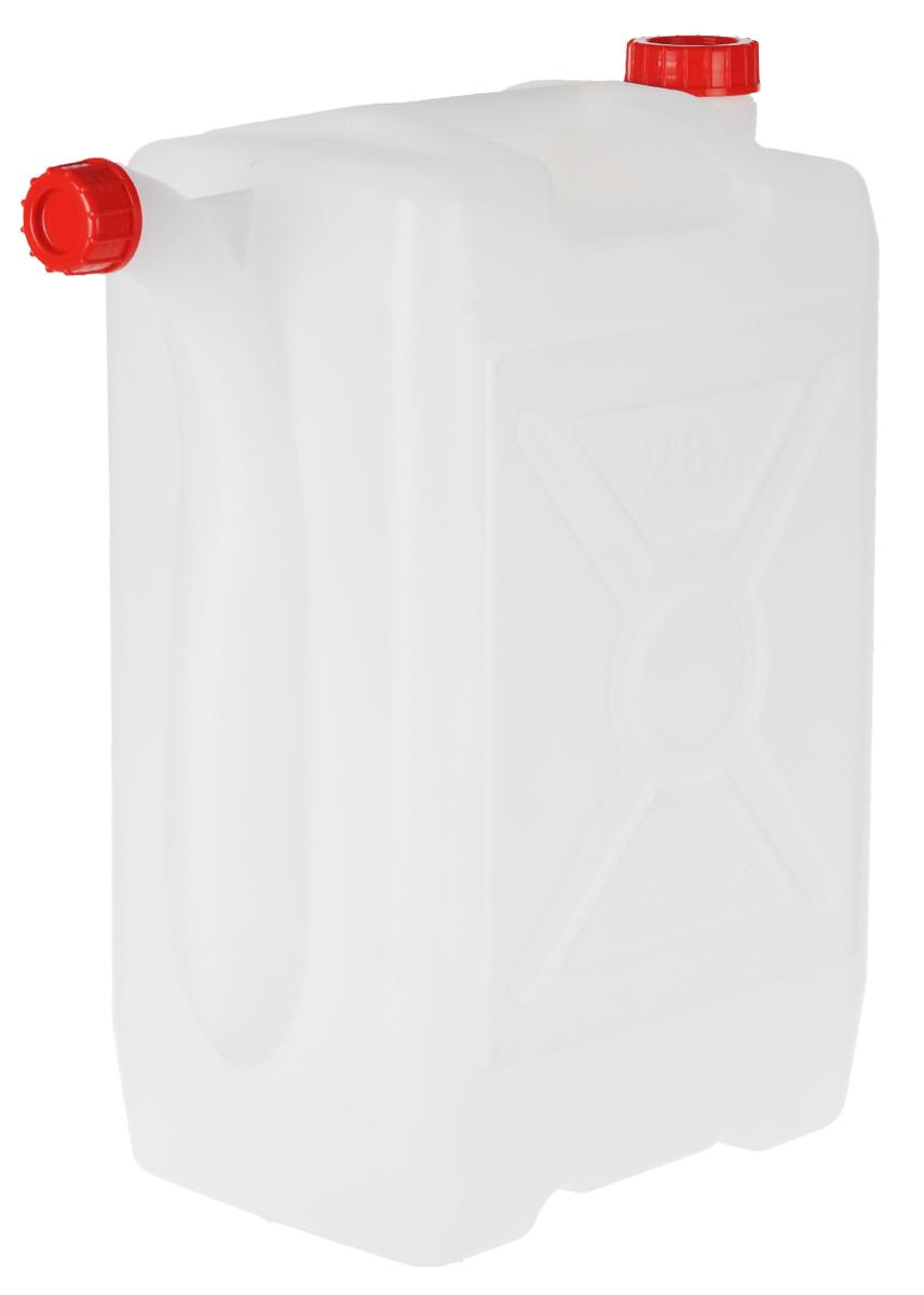 Канистра Альтернатива, со сливом, 28 лM051Канистра Альтернатива на 28 литров, изготовленная из прочного пищевого пластика, предназначена для транспортировки и хранения пищевых жидкостей. Изделие безопасно для здоровья, герметично, устойчиво к растрескиванию, легко очищается и не сохраняет нежелательных запахов. Имеет широкое удобно отверстие, которое прочно закручивается крышкой, а для удобства пользования имеются ручка и слив, закручиваемый крышкой. Также можно использовать на дачных участках для хранения поливочной воды, компоста, в качестве емкости для сыпучих строительных материалов.