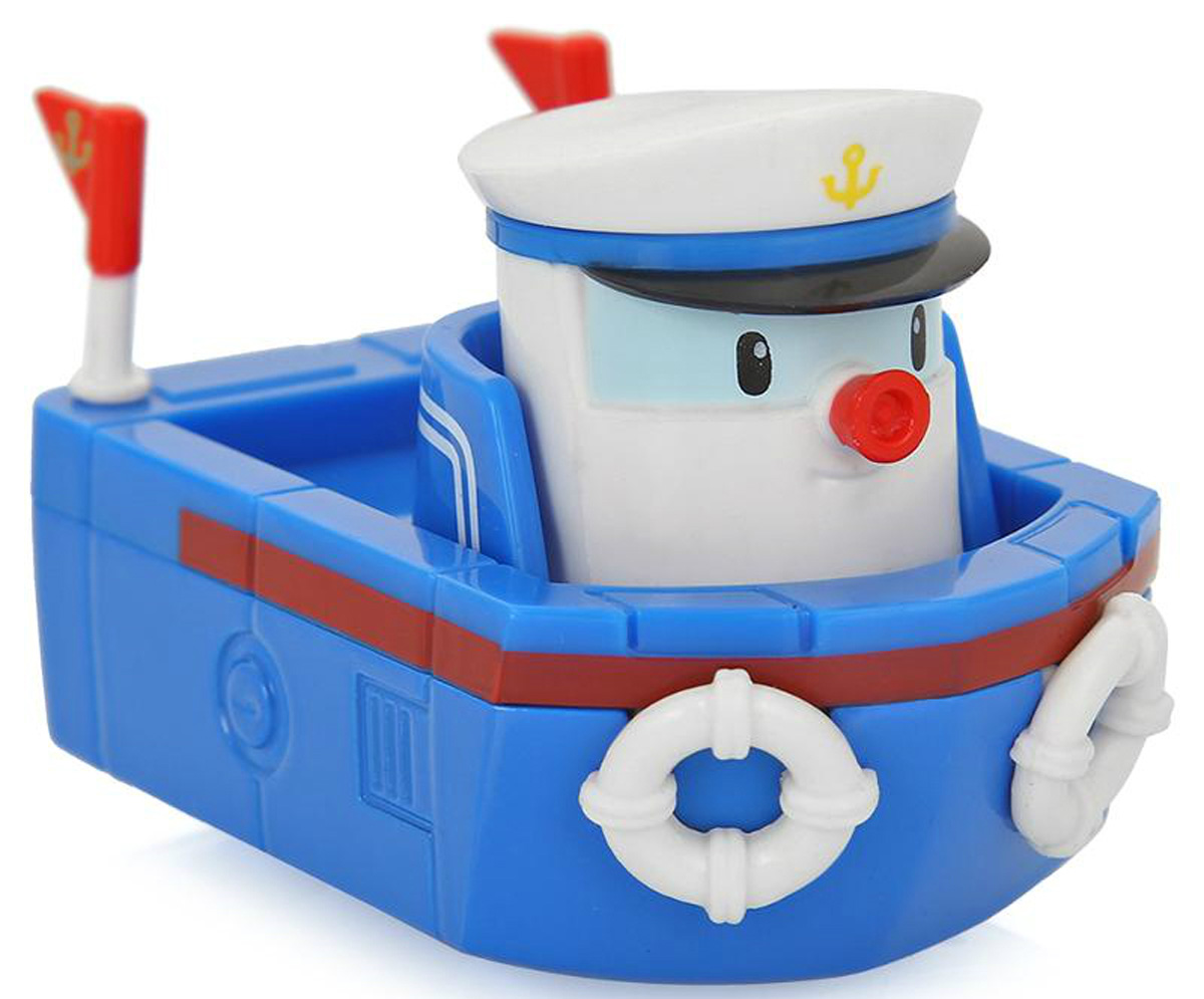 """Яркая игрушка Poli """"Буксир Мэрин"""" непременно понравится вашему малышу. Она выполнена из металла с элементами пластика в виде буксира Мэрин - персонажа популярного мультсериала """"Robocar Poli"""". Мэрин оснащена колесиками со свободным ходом, позволяющими катать буксир. Благодаря небольшому размеру ребенок сможет взять игрушку с собой на прогулку, в поездку или в гости. Порадуйте своего малыша таким замечательным подарком!"""