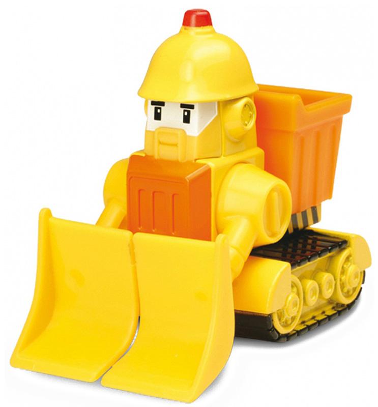 """Яркая игрушка Poli """"Бульдозер Брунер"""" непременно понравится вашему малышу. Она выполнена из металла с элементами пластика в виде бульдозера Брунера - персонажа популярного мультсериала """"Robocar Poli"""". Брунер оснащен подвижным отвалом и колесиками со свободным ходом, позволяющими катать машинку. Благодаря небольшому размеру ребенок сможет взять игрушку с собой на прогулку, в поездку или в гости. Порадуйте своего малыша таким замечательным подарком!"""