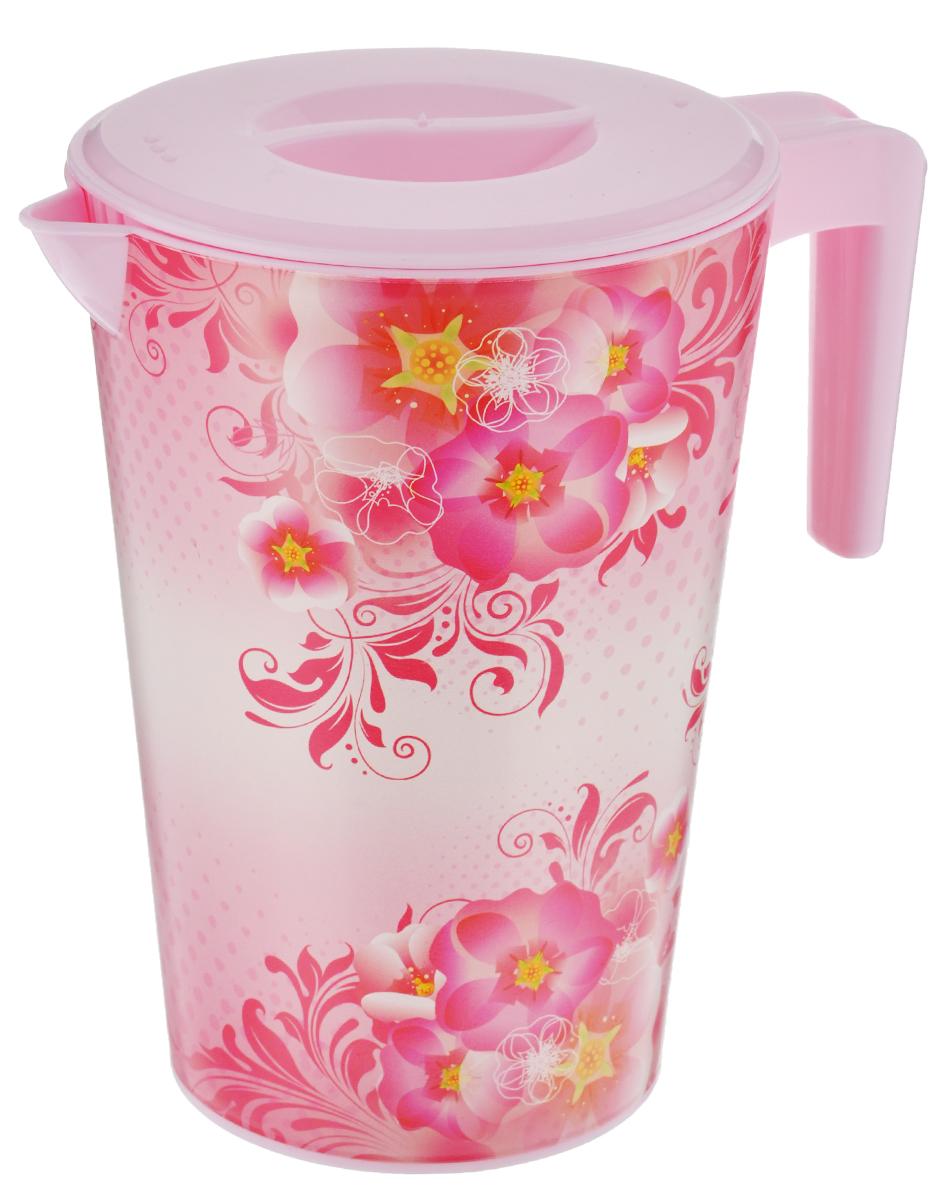 Кувшин Альтернатива Версаль, с крышкой, цвет: розовый, 2 лVT-1520(SR)Кувшин Альтернатива Версаль, выполненный из пластика и декорированный ярким цветочным рисунком, элегантно украсит ваш стол. Изделие оснащено удобной ручкой, носиком для выливания жидкости и плотно закрывающейся крышкой. Подойдет для подачи воды, сока, компота и других напитков. Кувшин Альтернатива Версаль дополнит интерьер вашей кухни и станет замечательным подарком к любому празднику.Диаметр (по верхнему краю): 14 см.Диаметр основания: 10,5 см.Высота кувшина: 19,5 см.
