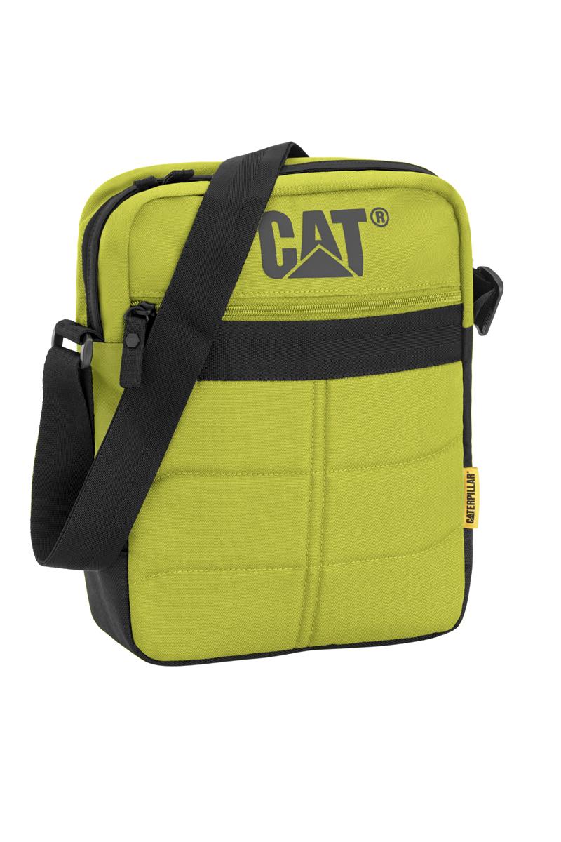 Сумка-планшет Caterpillar Ryan, цвет: салатовый, черный, 7 лW16-09Стильная сумка-планшет Caterpillar Ryan выполнена из полиэстера. Изделие имеет одно основное отделение, закрывающееся на застежку-молнию. Внутри имеется мягкий карман для планшета, который закрывается на хлястик с липучкой. Снаружи, на передней стенке находится прорезной карман на застежке-молнии. На задней стенке расположен накладной карман на липучке. Сумка оснащена регулируемым текстильным плечевым ремнем. Стильная сумка-планшет Caterpillar Ryan эффектно дополнит ваш образ и станет незаменимой в повседневной жизни.