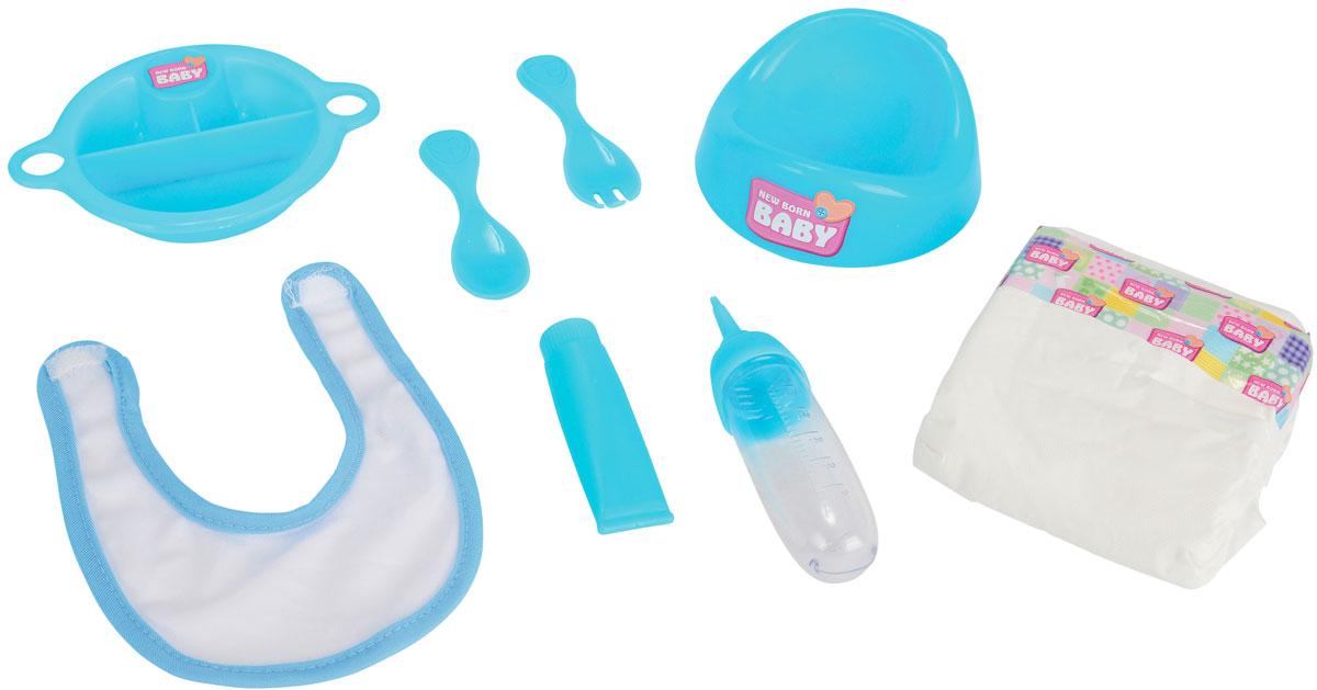 Simba Набор для кормления пупса New Born Baby цвет голубой