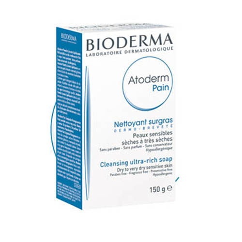 Bioderma мыло Atoderm 150 гFS-36054Мягко очищает, смягчает и успокаивает кожу. Оказывает антисептическое, противовоспалительное действие. Великолепная переносимость.Мягко очищает и успокаивает кожу