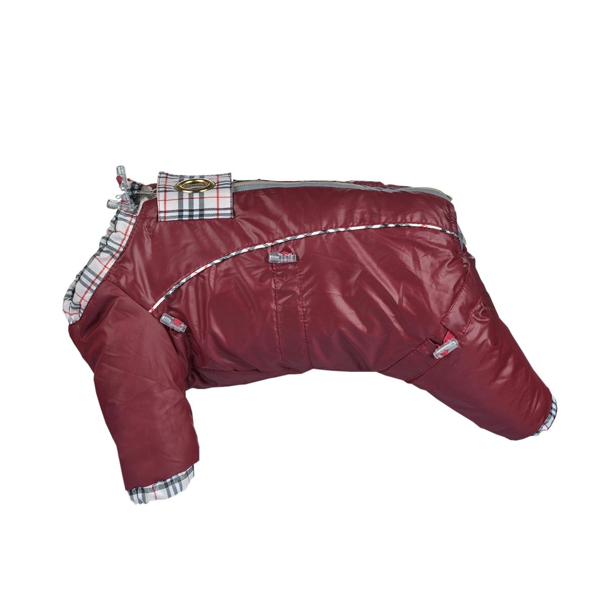 Комбинезон для собак Dogmoda  Doggs , для девочки, цвет: бордовый. Размер S - Одежда, обувь, украшения