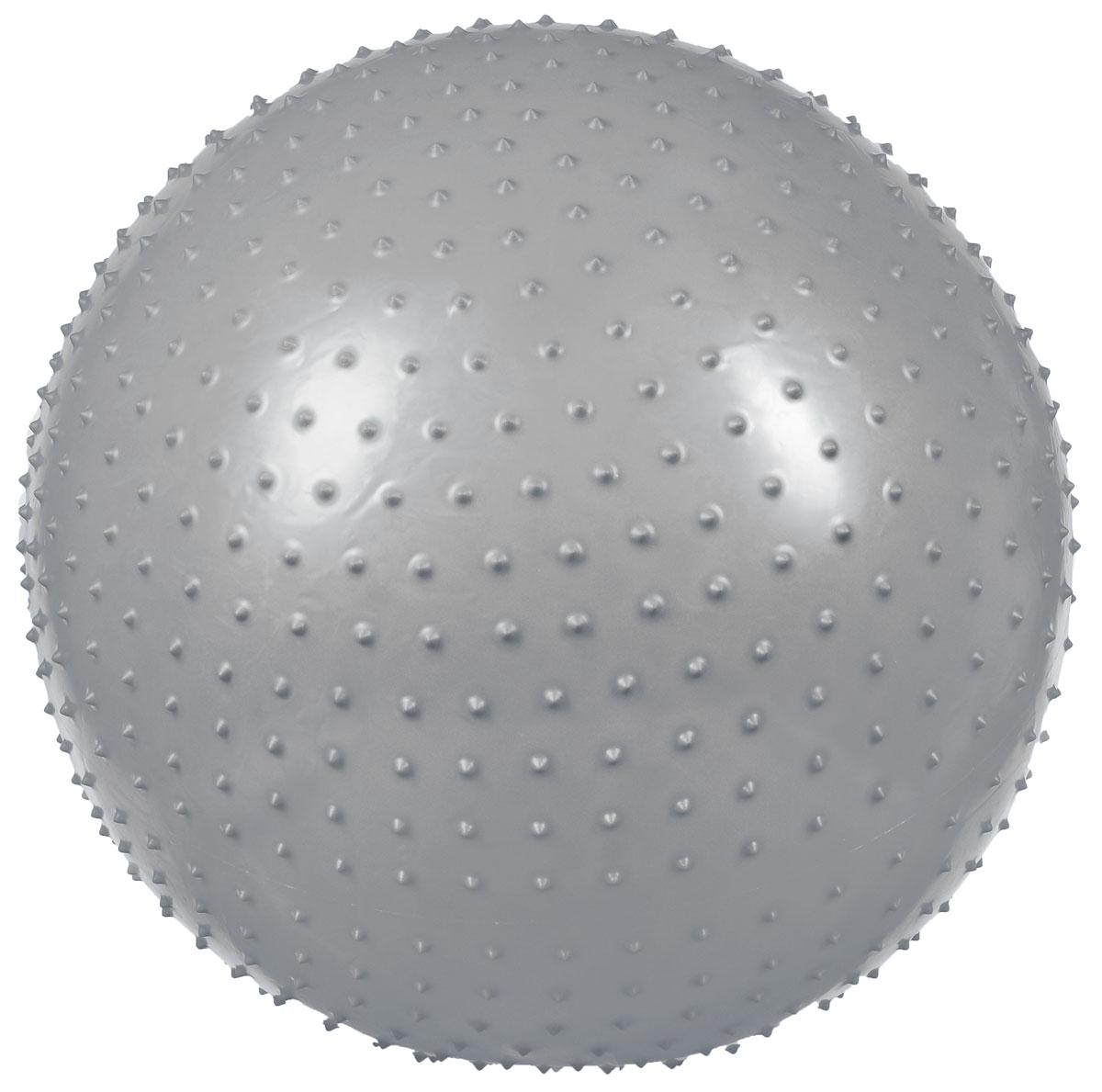 Мяч гимнастический Ironmaster, массажный, цвет: серый, 65 см. IR974043B327Мяч гимнастический массажный Ironmaster предназначен для занятий фитнесом, аэробикой, лечебной физкультурой. Оказывает массажный эффект на спину, ягодицы, бедра.Тренировки с гимнастическим мячом подходят для всех возрастных категорий, так как он практически полностью исключает нагрузку на позвоночник, суставы и связки. Отлично тренирует сердце, дыхательную систему, вестибулярный аппарат, укрепляет мышцы корпуса, развивает координацию движений, способствует формированию правильной осанки.Различные комплексы упражнений с гимнастическим мячом сейчас очень популярны во всем мире. Занятия с использованием гимнастического мяча идеально подходят для проработки и укрепления мышц спины, живота, рук и ног, а также подготовки беременных женщин к родам. УВАЖАЕМЫЕ КЛИЕНТЫ!Обращаем ваше внимание на тот факт, что мяч поставляется в сдутом виде. Насос входит в комплект.Максимальный вес пользователя: 100 кг.