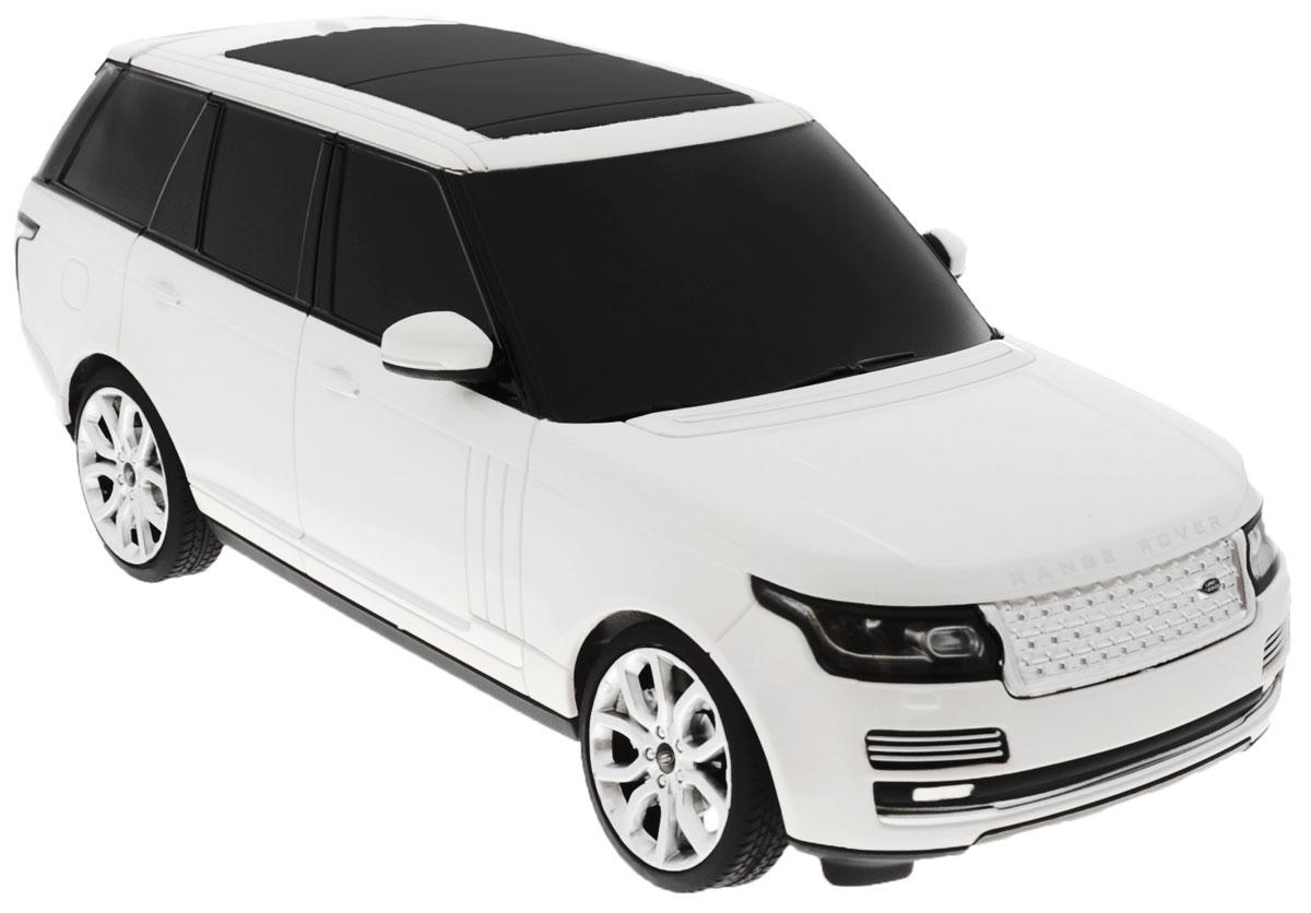 """Радиоуправляемая модель Rastar """"Range Rover"""" станет отличным подарком любому мальчику! Все дети хотят иметь в наборе своих игрушек ослепительные, невероятные и крутые автомобили на радиоуправлении. Тем более, если это автомобиль известной марки с проработкой всех деталей, удивляющий приятным качеством и видом. Одной из таких моделей является автомобиль на радиоуправлении Rastar """"Range Rover"""". Это точная копия настоящего авто в масштабе 1:24. Возможные движения: вперед, назад, вправо, влево, остановка. Имеются световые эффекты. Пульт управления работает на частоте 40 MHz. Для работы игрушки необходимы 3 батарейки типа АА (не входят в комплект). Для работы пульта управления необходимы 2 батарейки типа АА (не входят в комплект)."""