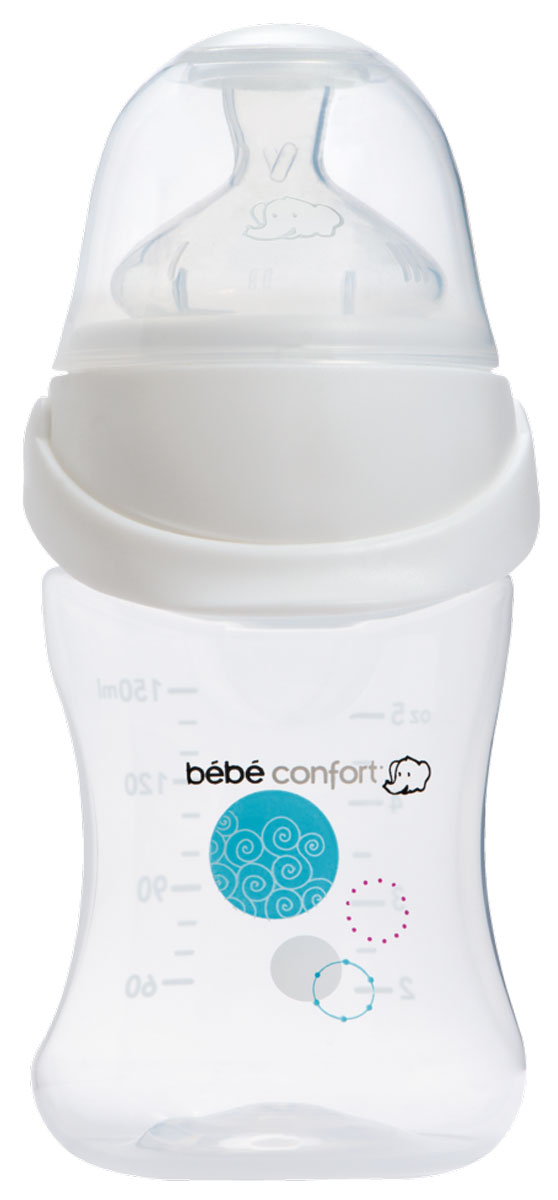 Bebe Confort Бутылочка для кормления Easy Clip 0-6 месяцев 150 мл бутылочка для кормления bebe confort easy clip 270 мл силиконовая соска s1 0 12 мес белый