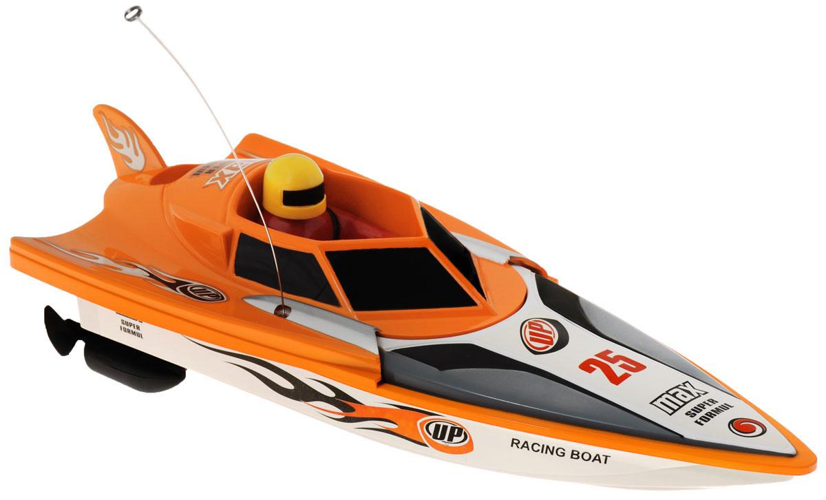 """Радиоуправляемый гоночный катер LK-Toys """"Чемпионат: Max Super Formul"""" - необычная водная игрушка, которая понравится и детям, и взрослым. Игрушечный спортивный катер изготовлен из прочного и качественного пластика, что успешно позволяет сделать конструкцию корпуса максимально обтекаемой, а также защитить от попадания воды все внутренние компоненты. Управление обеспечивается при помощи специального пульта дистанционного управления, который позволяет без проблем контролировать модель на расстояниях до 30 метров. Функции управления: вперед, назад, вправо, влево. Радиоуправляемый гоночный катер LK-Toys """"Чемпионат: Max Super Formul"""" обеспечит многие часы увлекательных игр на воде! В комплекте 2 запасных винта. Пульт управления работает на частоте 27 MHz. Для работы игрушки необходимы 4 батарейки типа АА (не входят в комплект). Для работы пульта управления необходимы 2 батарейки типа АА (не входят в комплект)."""