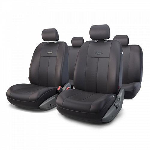 Авточехлы Autoprofi TT, цвет: черный, 9 предметов. TT-902P BK/BKCOM-1105 Cyclone (M)Автомобильные чехлы Autoprofi TT изготавливаются из высококачественного полиэстера со вставками из поролона, обеспечивающего сцепление с сиденьем. Мягкие чехлы являются отличным дополнением салона любого автомобиля. Изделия придают автомобильному интерьеру современные и солидные черты.Универсальная конструкция подходит для большинства автомобильных сидений. Подходят для автомобилей с боковыми подушками безопасности (распускаемый шов).Специальные молнии, расположенные в чехлах спинки заднего ряда, позволяют использовать чехлы на автомобилях с различными пропорциями складывания заднего ряда.Комплектация: 5 подголовников, 2 чехла сидений переднего ряда, 1 спинка заднего ряда, 1 сиденье заднего ряда.