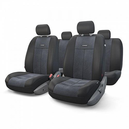 Авточехлы Autoprofi TT, цвет: черный, 9 предметов. TT-902V BK/BKCM000001326Автомобильные чехлы Autoprofi TT изготавливаются из высококачественного полиэстера со вставками из поролона, обеспечивающего сцепление с сиденьем. Мягкие чехлы являются отличным дополнением салона любого автомобиля. Изделия придают автомобильному интерьеру современные и солидные черты.Универсальная конструкция подходит для большинства автомобильных сидений. Подходят для автомобилей с боковыми подушками безопасности (распускаемый шов).Специальные молнии, расположенные в чехлах спинки заднего ряда, позволяют использовать чехлы на автомобилях с различными пропорциями складывания заднего ряда.Комплектация: 5 подголовников, 2 чехла сидений переднего ряда, 1 спинка заднего ряда, 1 сиденье заднего ряда.