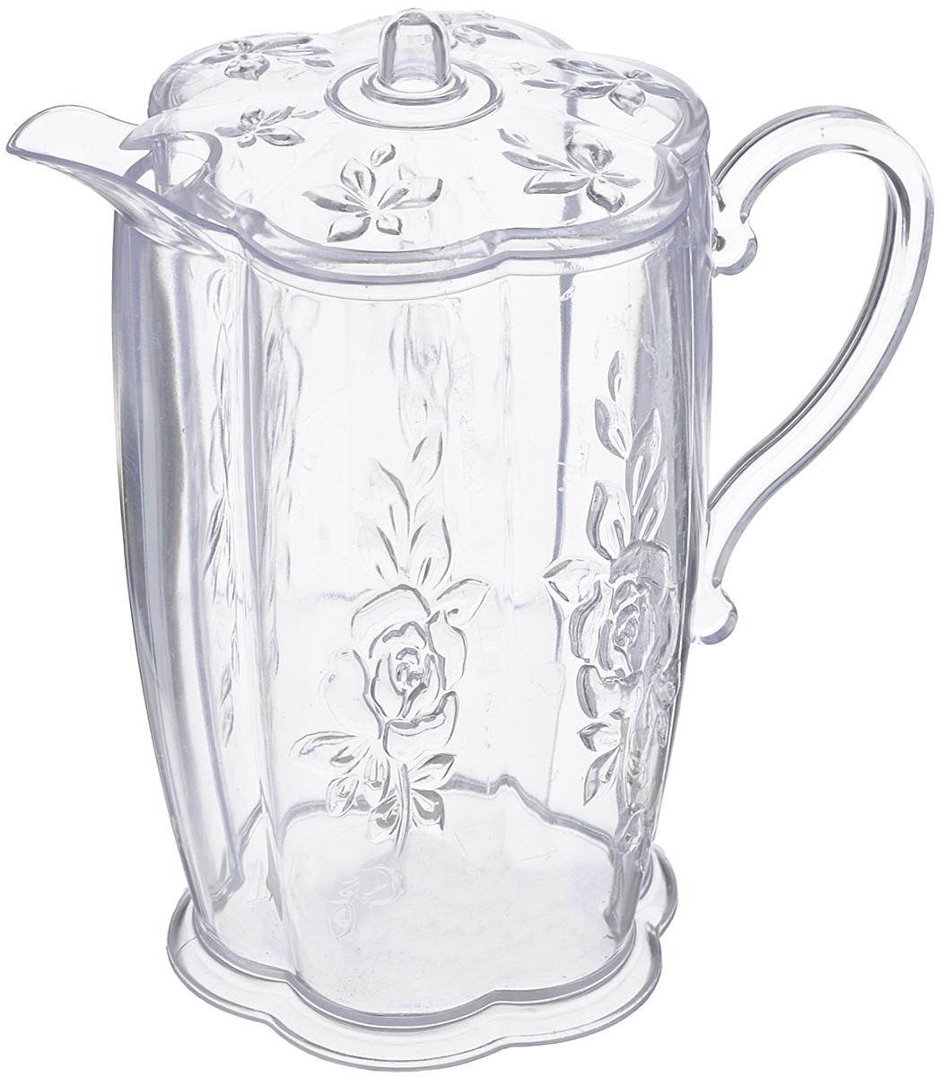 Кувшин Альтернатива Молочник, с крышкой, 500 млМ832Кувшин Альтернатива Молочник выполнен из высококачественного пластика, оснащен крышкой и эргономичной ручкой для удобства. Внешние стенки изделия декорированы объемными цветами. В таком кувшине будет удобно хранить и подавать на стол молоко, соки или воду.Кувшин Альтернатива Молочник украсит любой кухонный интерьер и станет хорошим подарком для ваших близких. Размер (по верхнему краю): 10,2 см х 7,5 см. Высота (с учетом крышки): 14 см.