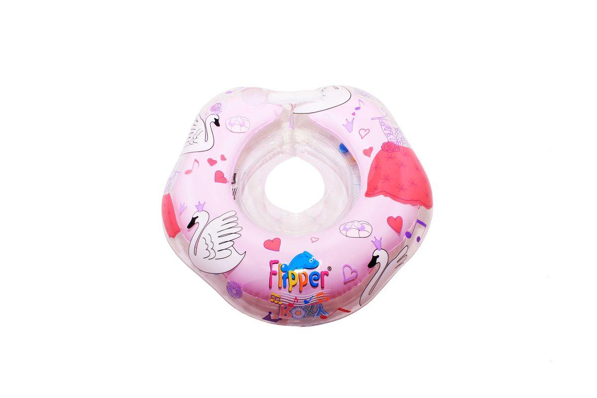Roxy-kids Круг музыкальный на шею для купания Flipper цвет розовый -  Круги для купания
