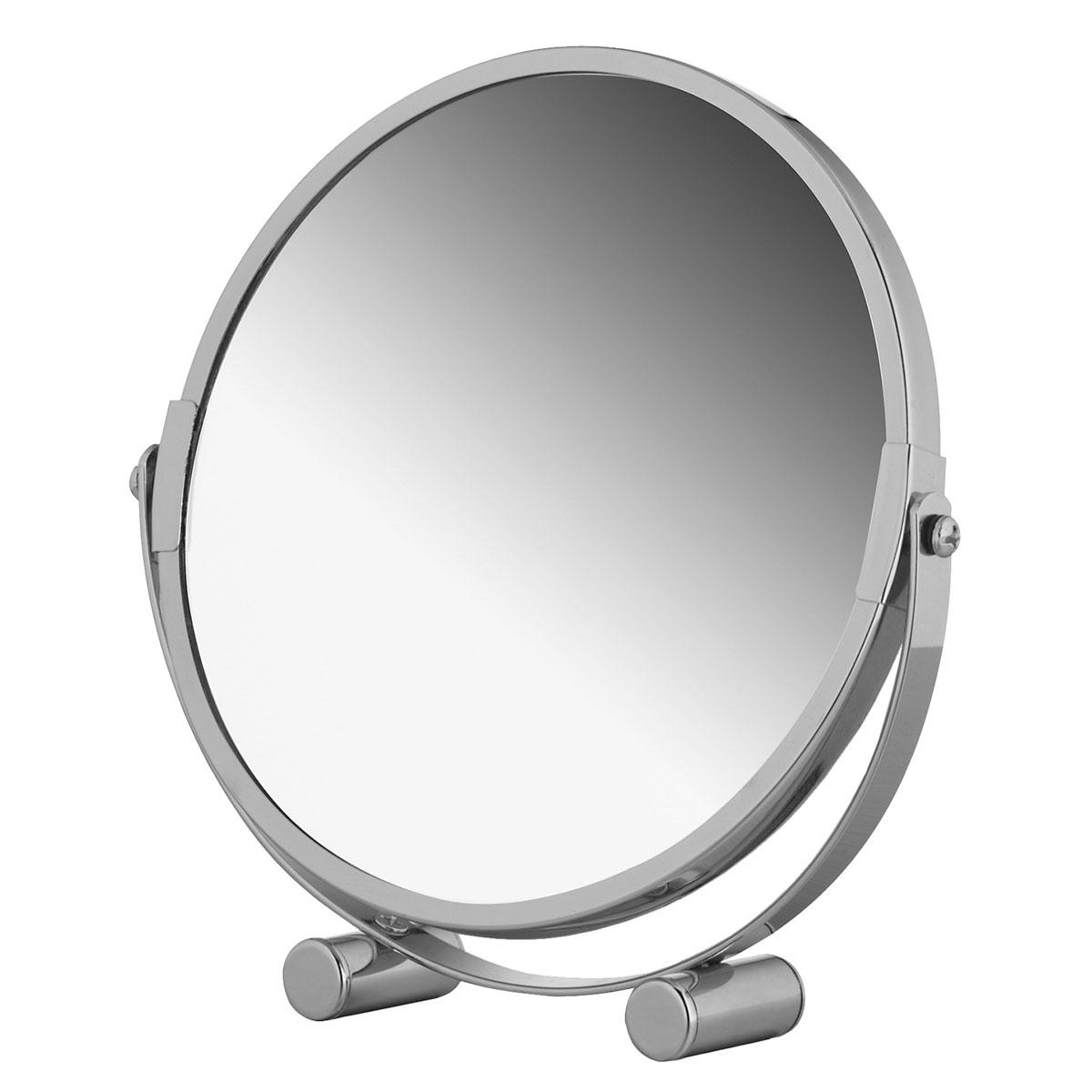 Зеркало двухстороннее Tatkraft Eos, настольное, диаметр 17 см1301210Двухстороннее настольное зеркало Tatkraft Eos с увеличением с одной стороны отлично подойдет для нанесения макияжа и проведения процедур по уходу за кожей лица. Зеркало диаметром 17 см изготовлено из хромированной стали и имеет 2-х кратное увеличение. Компактный размер позволяет брать зеркало с собой в поездки.