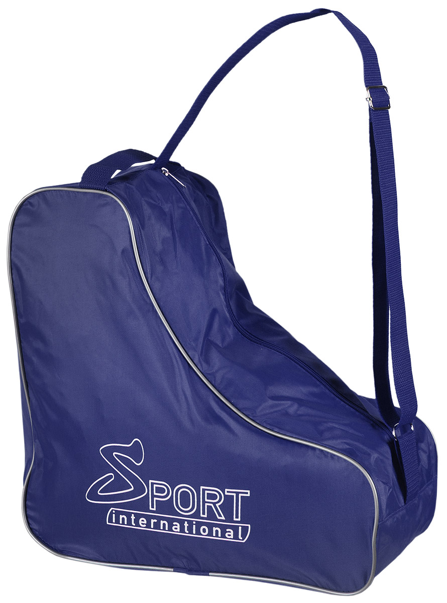 Сумка для коньков Sport international, цвет: синийASE-611FУниверсальная сумка Sport international для хранения и транспортировки хоккейных, фигурных, роликовых коньков. Сумка надежна и устойчива к внешним воздействиям: влаге, холоду, ветру. Имеет регулируемую ручку через плечо.