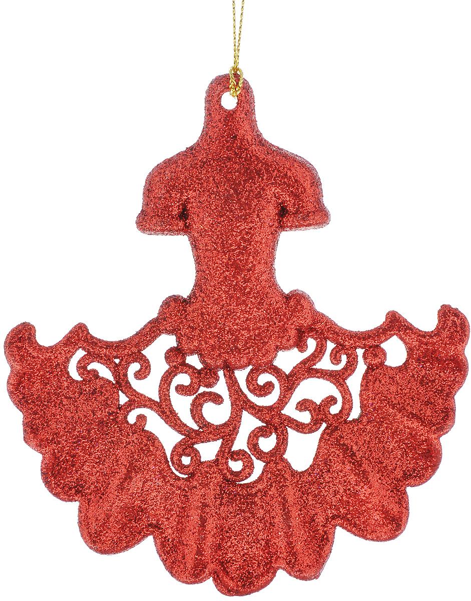 Новогоднее подвесное украшение Феникс-Презент Платье, цвет: красный25904Новогоднее украшение Феникс-Презент Платье, изготовленное из пластика, отлично подойдет для декорации вашего дома и новогодней ели. Украшение выполнено в виде платья с блестками и оснащено текстильной петелькой, с помощью которой его можно повесить в любом понравившемся вам месте. Елочная игрушка - символ Нового года. Она несет в себе волшебство и красоту праздника. Создайте в своем доме атмосферу веселья и радости, украшая всей семьей новогоднюю елку нарядными игрушками, которые будут из года в год накапливать теплоту воспоминаний.