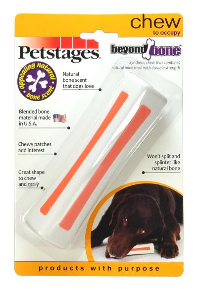 Игрушка для собак Petstages Beyond Bone, с ароматом косточки, средняя598STEXИгрушка для собак сочетает прочность синтетических материалов со вкусом и ароматом настоящей косточки. В отличие от натуральных костей не разламывается и не образует острых краёв. Жевательные вставки вызывают у собаки дополнительный интерес. Подходит для игр в апорт.