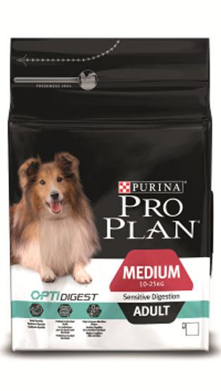 Корм сухой Pro Plan Optidigest для собак средних пород с чувствительным пищеварением, с ягненком и рисом, 7 кг0120710Сухой корм Pro Plan Optidigest для взрослых собак средних пород с чувствительным пищеварением содержит высококачественный белок из ягненка. Корм легко переваривается, пребиотики в составе корма способствуют здоровью кишечника. Специально разработанный состав улучшает баланс микрофлоры кишечника.Состав: сухой белок птицы, кукуруза, пшеница, ягненок (14%), животный жир, кукурузная мука, рис (4%), вкусоароматическая кормовая добавка, сухая мякоть свеклы, глютен, продукты переработки растительного сырья, минеральные вещества, сушеный корень цикория (1%, источник пребиотиков), яичный порошок, рыбий жир, витамины, антиоксиданты. Добавленные вещества, МЕ/кг: витамин A 30000; витамин D3 975; витамин Е 550 мг/кг; витамин С 140; железо 66 МЕ/кг; йод 1,7; медь: 10; марганец: 31; цинк 125; селен 0,1.Гарантируемые показатели: белок 25%, жир 15%, сырая зола 7,5%, клетчатка 3%.Товар сертифицирован.
