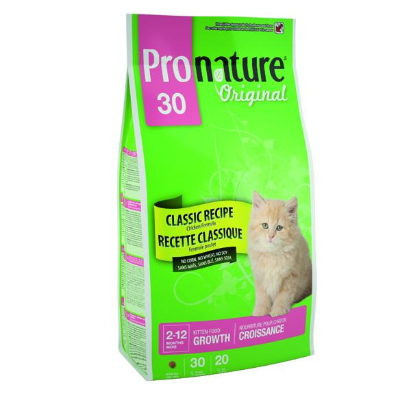 Pronature Original 30 Корм сухой для котят Цыпленок 2,72кг0120710Сочная формула с хрустящими кусочками курицы и риса имеет прекрасный вкус и удовлетворяет все необходимые питательные потребности малышей Условия хранения: в прохладном темном месте.
