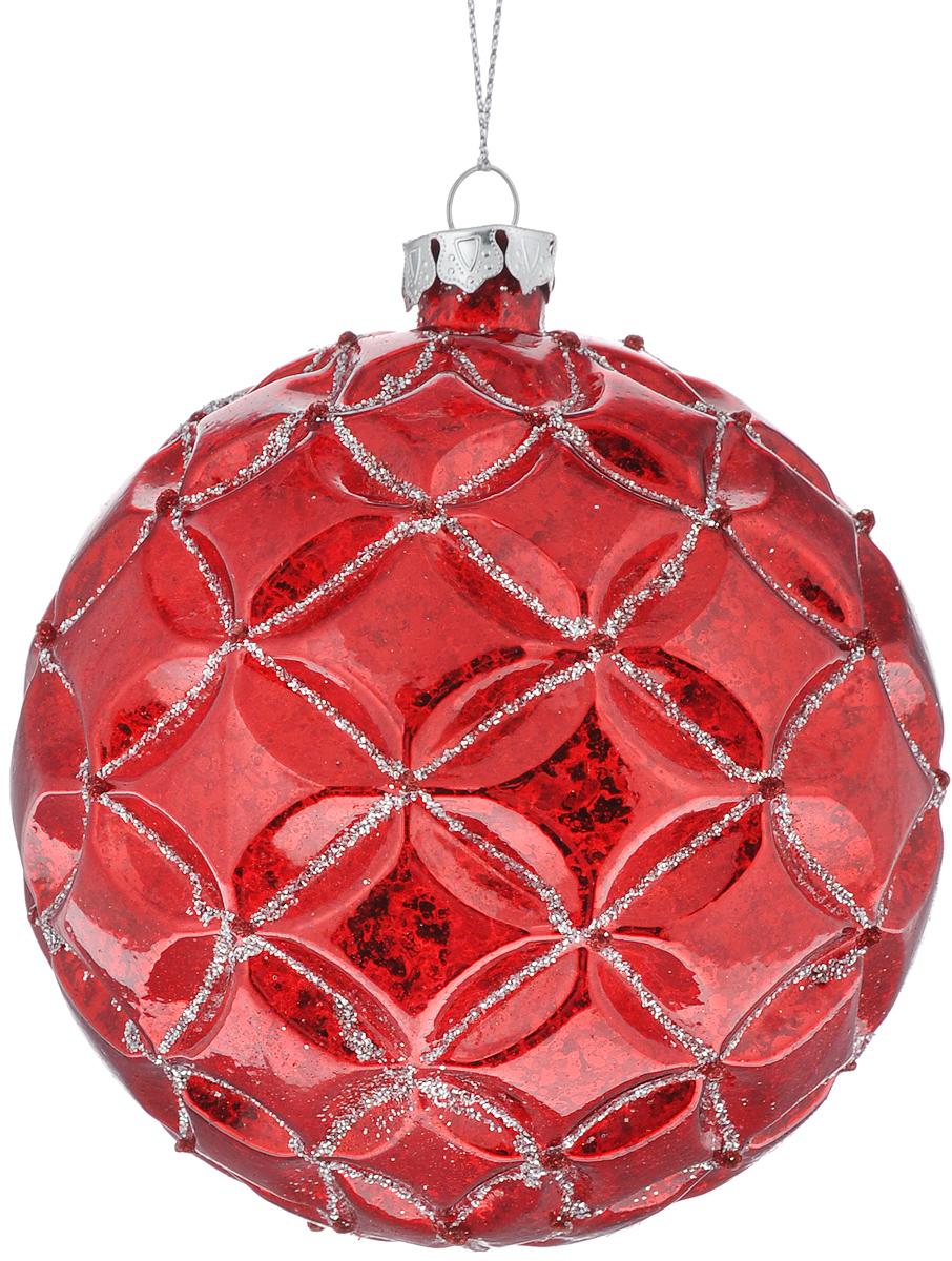 Новогоднее подвесное украшение Феникс-Презент Красный ромб, диаметр 10 см39088/75899Новогоднее подвесное украшение Феникс-Презент Красный ромб прекрасно подойдет для праздничного декора новогодней ели. Изделие выполнено из высококачественного стекла. Для удобного размещения на елке на украшении предусмотрена петелька.Елочная игрушка - символ Нового года. Она несет в себе волшебство и красоту праздника. Создайте в своем доме атмосферу веселья и радости, украшая новогоднюю елку нарядными игрушками, которые будут из года в год накапливать теплоту воспоминаний. Откройте для себя удивительный мир сказок и грез. Почувствуйте волшебные минуты ожидания праздника, создайте новогоднее настроение вашим дорогим и близким.