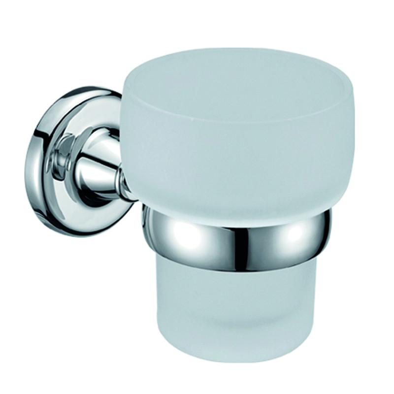 Стакан подвесной Gro Welle Wassermelone74-0060Стакан для ванной комнаты Gro Welle Wassermelone изготовлен из высококачественного матового стекла. Для стакана предусмотрен специальный держатель, выполненный из латуни с хромированным покрытием. Хромоникелевое покрытие Crystallight придает изделию яркий металлический блеск и эстетичный внешний вид. Имеет водоотталкивающие свойства, благодаря которым защищает изделие. Устойчив к кислотным и щелочным чистящим средствам. Изделие быстро и просто крепится к стене, крепежные материалы входят в комплект. В стакане удобно хранить зубные щетки, пасту и другие принадлежности. Диаметр стакана по верхнему краю: 8,4 см.Высота стакана: 10 см.Отступ стакана от стены: 12,8 см.