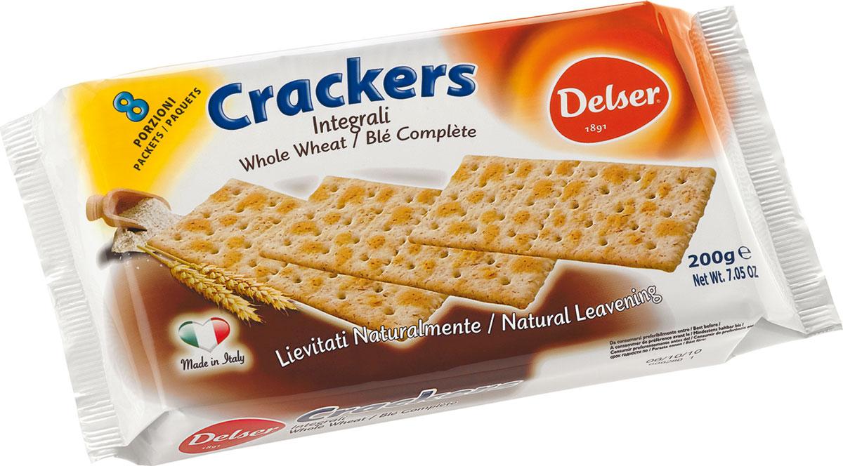 Delser крекеры из непросеянной муки0120710Delser не использует генномодифицированные продукты, гидрогенизированные жиры и транс-жиры, красители и консерванты. Постоянно ищет новые ингредиенты и рецептуры, при этом не забывая свою историю и не изменяя своим традициям, что позволяет удовлетворять вкусы потребителей уже много лет.