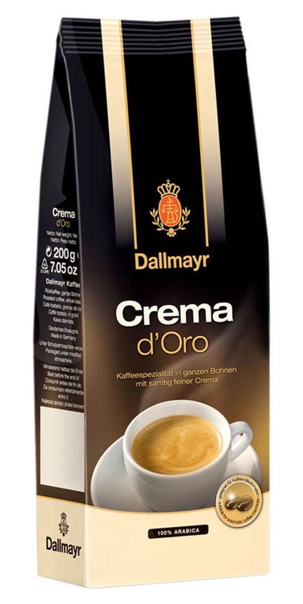 Dallmayr Crema dOro кофе в зернах, 200 г0120710Crema dOro - это тщательно подобранная композиция благородных кофейных зерен и щадящая обжарка дают нежную бархатную пенку и сбалансированный аромат. Средняя степень обжарки зерна, в составе - 100% арабика.
