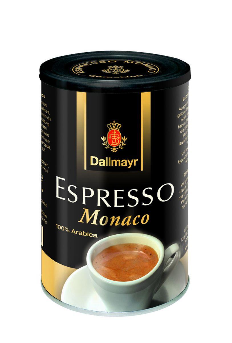 Dallmayr Esspresso Monaco кофе молотый, 200 г0120710Тонкая изысканная композиция зерен с лучших плантаций мира. Идеально подходит также для приготовления Cappuccino и Latte Macchiato. Темная степень обжарки зерна. Смесь зерен сортов Арабика с добавлением Робусты.
