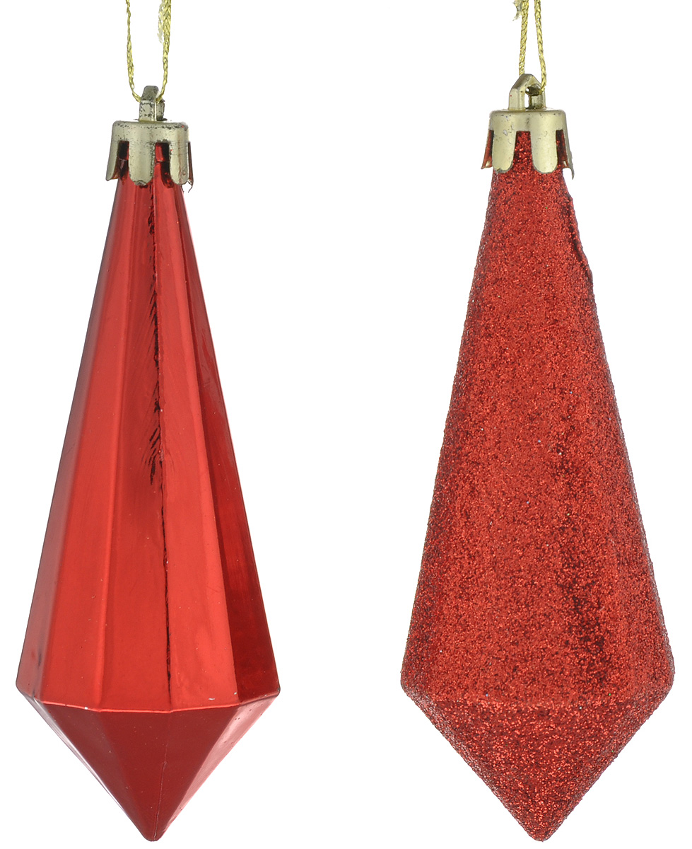 Набор новогодних подвесных украшений Феникс-Презент Сосулька, цвет: красный, 2 шт701305_серебристый, зеленыйНабор Феникс-Презент Сосулька отлично подойдет для декора праздничной ели. В наборе две игрушки, выполненные из полистирола. Одна из сосулек покрыта блестками. Украшения оснащены петельками для подвешивания. Елочная игрушка - символ Нового года. Она несет в себе волшебство и красоту праздника. Создайте в своем доме атмосферу веселья и радости, украшая новогоднюю елку нарядными игрушками, которые будут из года в год накапливать теплоту воспоминаний.