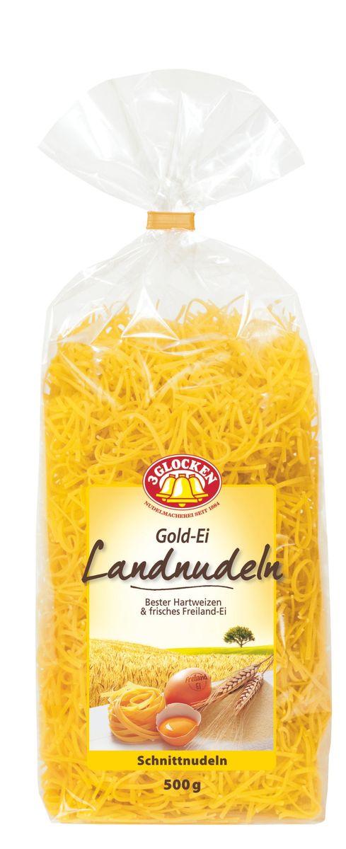 3 Glocken Gold-Ei Landnudeln мелкая лапша, 500 г0120710Мелкая лапша 3 Glocken Gold-Ei Landnudeln сделана из муки твердых сортов содержащей чуть меньшее количество клейковины, чем обыкновенная мука. Она хорошо поглощает воду, макароны из нее при варке увеличиваются и не развариваются. Лапша сделана на чистой, проточной, ключевой родниковой воде, с добавлением яиц. Варить 5-6 минут в подсоленной воде.