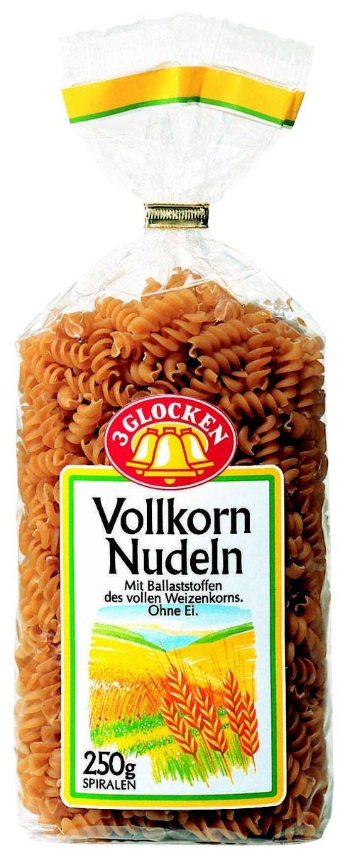 3 Glocken Spiralen Vollkornnudeln спирали диетические, 250 г8001810903637Продукция 3 Glocken - это макаронные изделия высшего качества, произведенные из 100% твердых сортов пшеницы. Изысканный вкус, большой выбор фигурных макарон традиционных и оригинальных форм, различная фасовка, наилучшее соотношение в плане цена=качество.Продукция представлена на рынке более 15 лет и за это время отлично зарекомендовала себя среди огромного количества покупателей. Яркая оригинальная упаковка заметно выделяется на полках магазинов и привлекает к себе внимание потребителей. До сих пор ни один из покупателей не отказывался от продукции 3 Glocken, что подтверждается высокими продажами бренда на Российском рынке. Макароны Spiralen Vollkornnudeln изготовлены из муки твердых сортов, содержащей чуть меньшее количество клейковины, чем обыкновенная мука. Она хорошо поглощает воду, макароны из нее при варке увеличиваются и не развариваются. Варить макаронные изделия 15 минут в подсоленной воде. Условия хранения: в сухом прохладном месте при температуре до 30°C и относительной влажности воздуха не более 70%