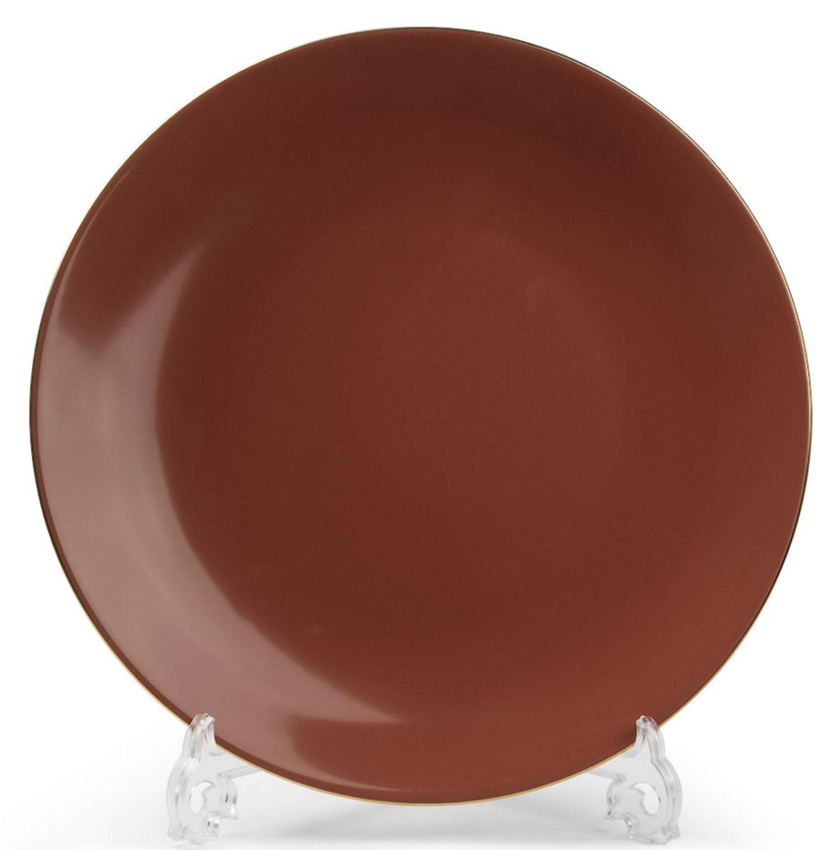 Monalisa 3126 Набор дессертных тарелок 21см*6 шт, цвет: мокко с золотом54 009312В наборе тарелка 21 см 6 штук Материал: фарфор: цвет: мокко с золотомСерия: MONALISA
