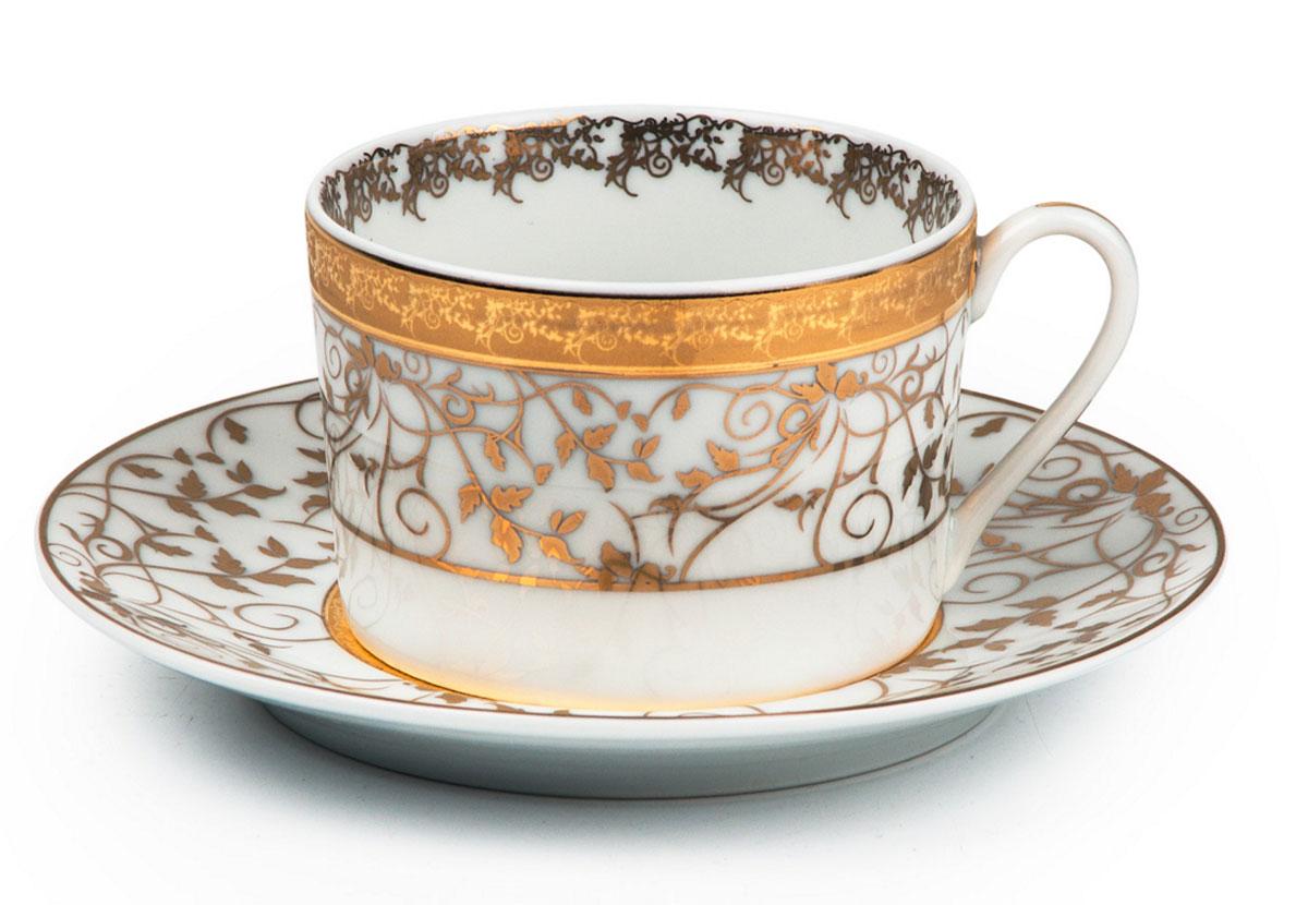 Mimosa Lierre Or 947, набор кофейных пар (6шт), цвет: белый с золотом115510Кофейная пара 120 мл * 6 штук/ 12 предметов Материал: фарфор: цвет: белый с золотомСерия: MIMOSA