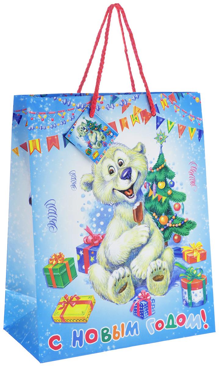 Пакет подарочный Феникс-Презент Медвежонок, 26 см х 33 см х 13 смRSP-202SПодарочный пакет Феникс-Презент Медвежонок, изготовленный из плотной бумаги, станет незаменимым дополнением к выбранному подарку. Дно изделия укреплено картоном, который позволяет сохранить форму пакета и исключает возможность деформации дна под тяжестью подарка. Для удобной переноски на пакете имеются две ручки из шнурков.Подарок, преподнесенный в оригинальной упаковке, всегда будет самым эффектным и запоминающимся. Окружите близких людей вниманием и заботой, вручив презент в нарядном, праздничном оформлении.