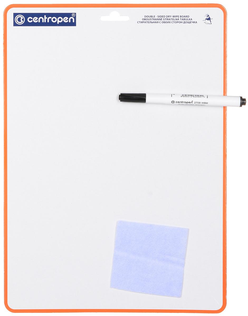 Centropen Доска для рисования с маркером8595013601334С доской для рисованияCentropen ваш ребенок может рисовать и писать снова и снова! Доска со специальным ламинированным покрытием и с одной стороны разлинована в клетку, что облегчит ребенку рисование и написание цифр и букв. Ребенок сам сможет писать и рисовать с помощью маркера. В комплект входят маркер и салфетка для стирания надписей и рисунков. Доска имеет удобную петельку для подвешивания. Доска для письма, маркер, стирающая салфетка