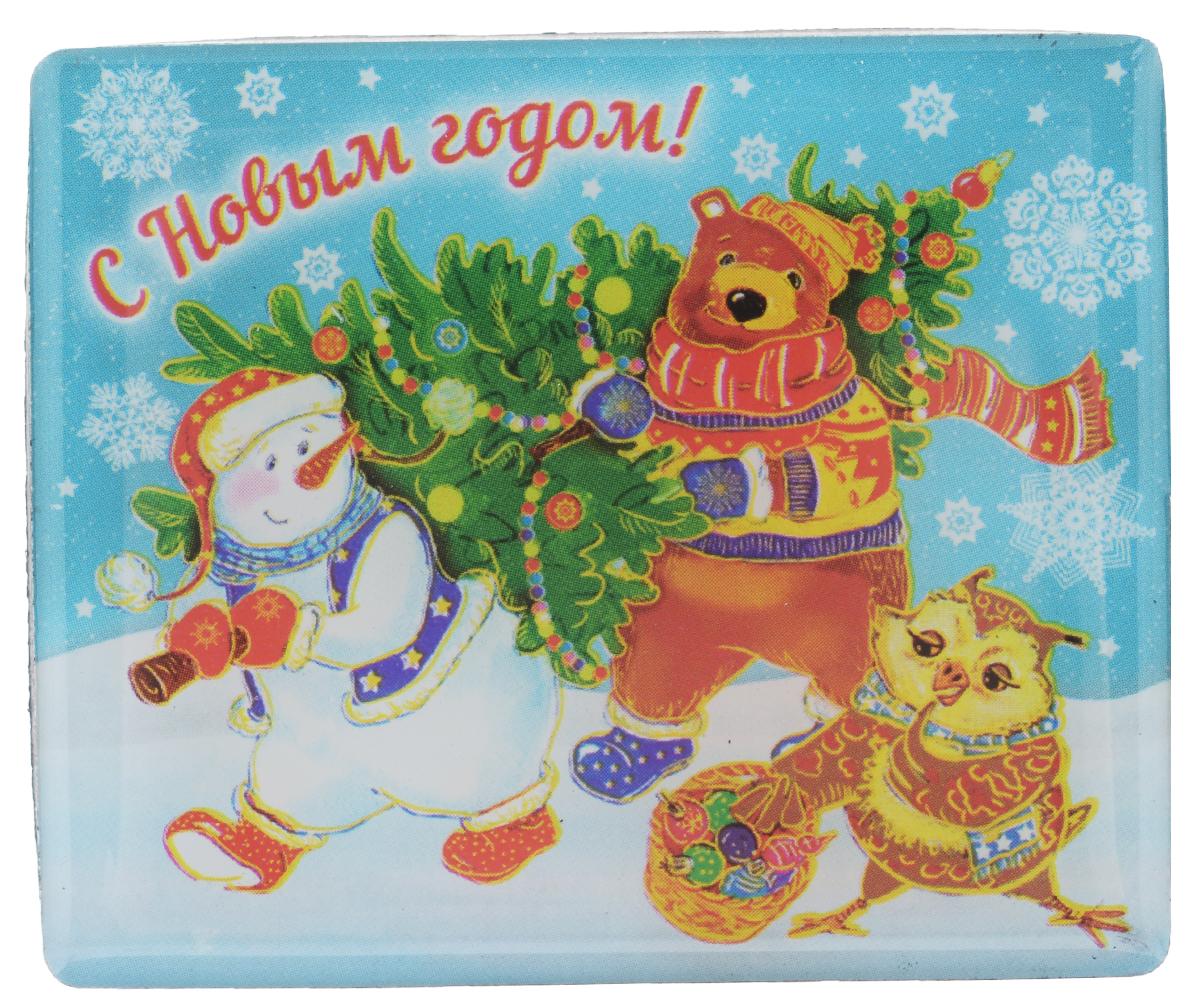 Магнит Феникс-презент Снеговик и звери, 6 см х 5 см27180Магнит прямоугольной формы Феникс-презент Снеговик и звери, выполненный из агломерированного феррита, станет приятным штрихом в повседневной жизни. Оригинальный магнит, декорированный изображением забавного снеговика, поможет вам украсить не только холодильник, но и любую другую магнитную поверхность. Материал: агломерированный феррит.