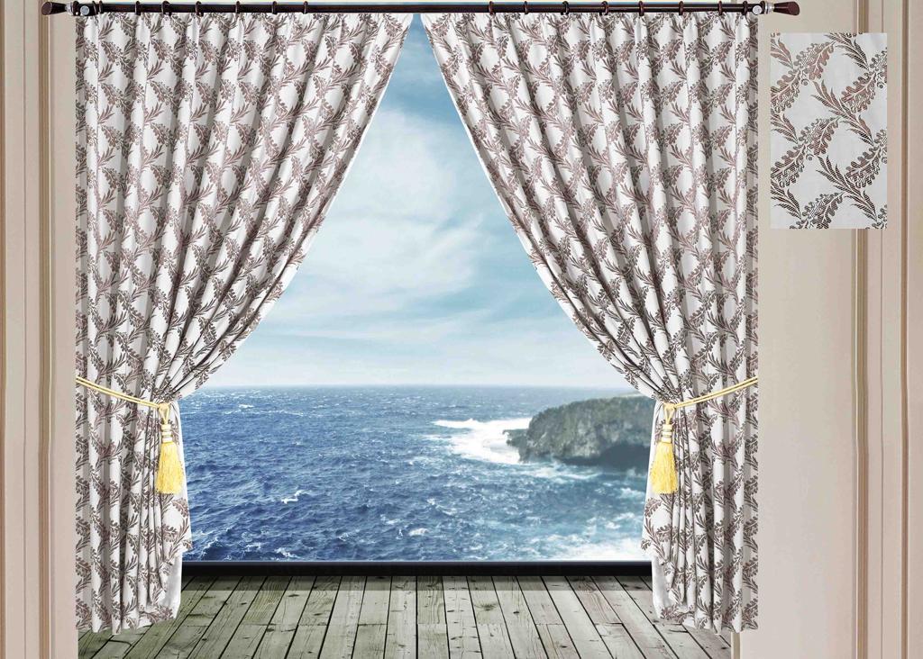 Комплект штор SL, на ленте, цвет: светло-серый, высота 270 см. 1026010260Роскошный комплект штор SL изготовлен из мягкого бархатистого полиэстера с жаккардовым рисунком. Комплект состоит из двух плотных полотен, благодаря чему они надежно защищают комнату от солнечного света днем и от уличного освещения вечером. По верхнему краю прошита плотная широкая шторная лента для крючков. Рекомендации по уходу: - Ручная или машинная стирка при температуре не выше 40°С. - Разрешено гладить при максимальной температуре 110°С. - При стирке не использовать средства содержащие отбеливатели. - Химическая чистка запрещена.