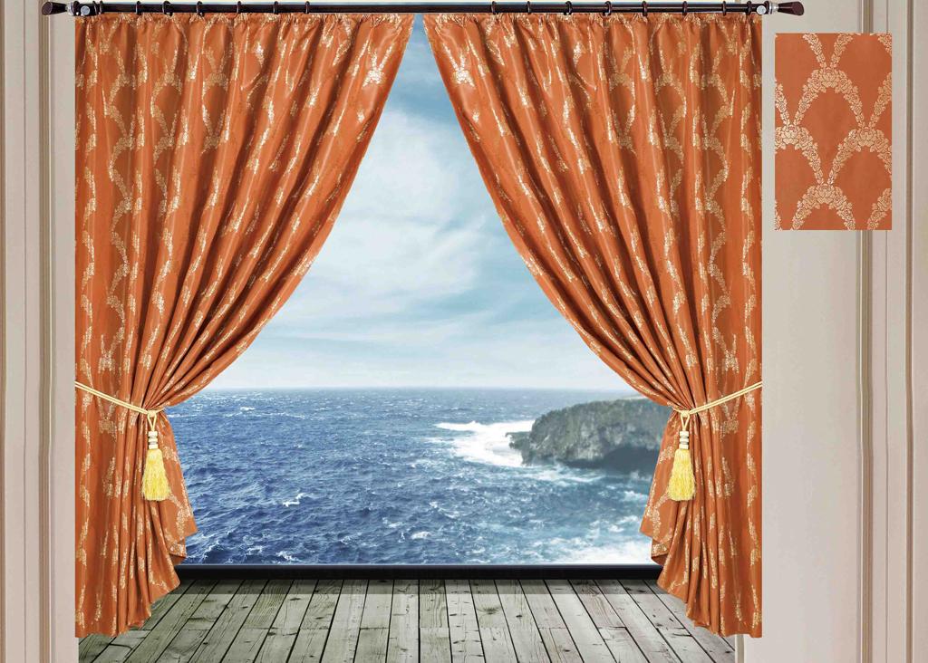 Комплект штор SL, на ленте, цвет: коричневый, высота 270 см. 10281SVC-300Роскошный комплект штор SL изготовлен из мягкого бархатистого полиэстера с жаккардовым рисунком. Комплект состоит из двух плотных полотен, благодаря чему они надежно защищают комнату от солнечного света днем и от уличного освещения вечером. По верхнему краю прошита плотная широкая шторная лента для крючков. Рекомендации по уходу: - Ручная или машинная стирка при температуре не выше 40°С. - Разрешено гладить при максимальной температуре 110°С. - При стирке не использовать средства содержащие отбеливатели. - Химическая чистка запрещена.