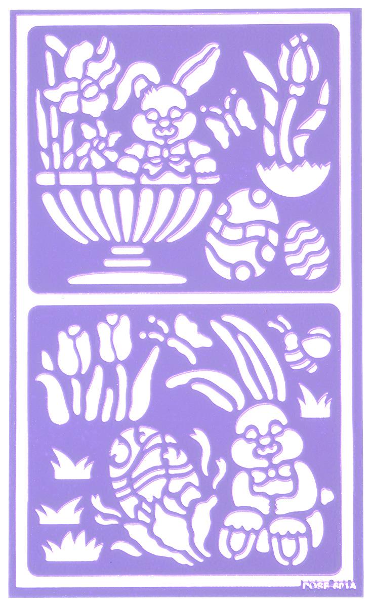 Трафарет для декорирования яиц Home Queen Пасха. Зайчата, 9 х 15 см2100070440Трафарет Home Queen Пасха. Зайчата прекрасно подойдет для декорирования пасхальных яиц. Его также можно использовать для нанесения декоративного рисунка на посуду, изделия из стекла, металла, керамики, поздравительные открытки и прочее. Трафарет выполнен из ПВХ и рассчитан на 20 применений.