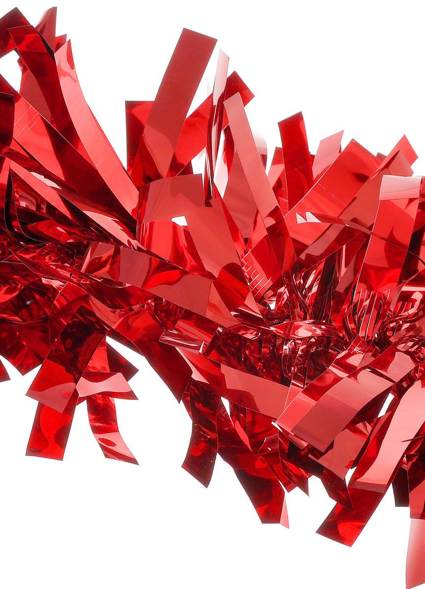 Мишура новогодняя EuroHouse Северное сияние, цвет: красный, диаметр 11 см, длина 200 смNLED-454-9W-BKНовогодняя мишура EuroHouse Северное сияние, выполненная из ПЭТ (полиэтилентерефталата), поможет вам украсить свой дом к предстоящим праздникам. А новогодняя елка с таким украшением станет еще наряднее. Мишура армирована, то есть имеет проволоку внутри и способна сохранять придаваемую ей форму. Новогодней мишурой можно украсить все, что угодно - елку, квартиру, дачу, офис - как внутри, так и снаружи. Можно сложить новогодние поздравления, буквы и цифры, мишурой можно украсить и дополнить гирлянды, можно выделить дверные колонны, оплести дверные проемы.