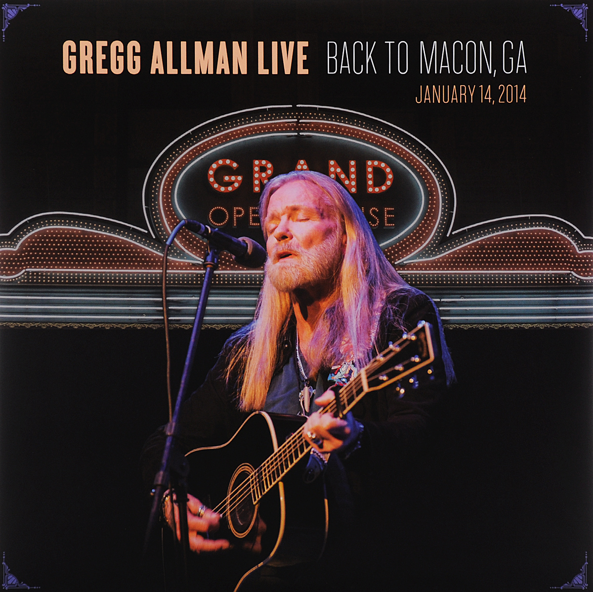 Грегг Оллмен Gregg Allman. Live: Back To Macon, GA (2 LP) 2015 10