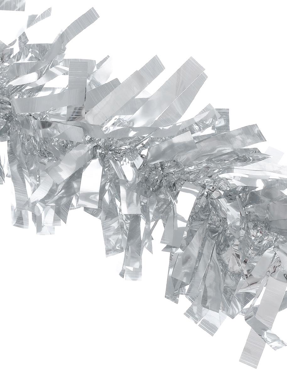 Мишура новогодняя EuroHouse Северное сияние, цвет: серебристый, диаметр 11 см, длина 200 см38718/75090Новогодняя мишура EuroHouse Северное сияние, выполненная из ПЭТ (полиэтилентерефталата), поможет вам украсить свой дом к предстоящим праздникам. А новогодняя елка с таким украшением станет еще наряднее. Мишура армирована, то есть имеет проволоку внутри и способна сохранять придаваемую ей форму. Новогодней мишурой можно украсить все, что угодно - елку, квартиру, дачу, офис - как внутри, так и снаружи. Можно сложить новогодние поздравления, буквы и цифры, мишурой можно украсить и дополнить гирлянды, можно выделить дверные колонны, оплести дверные проемы.