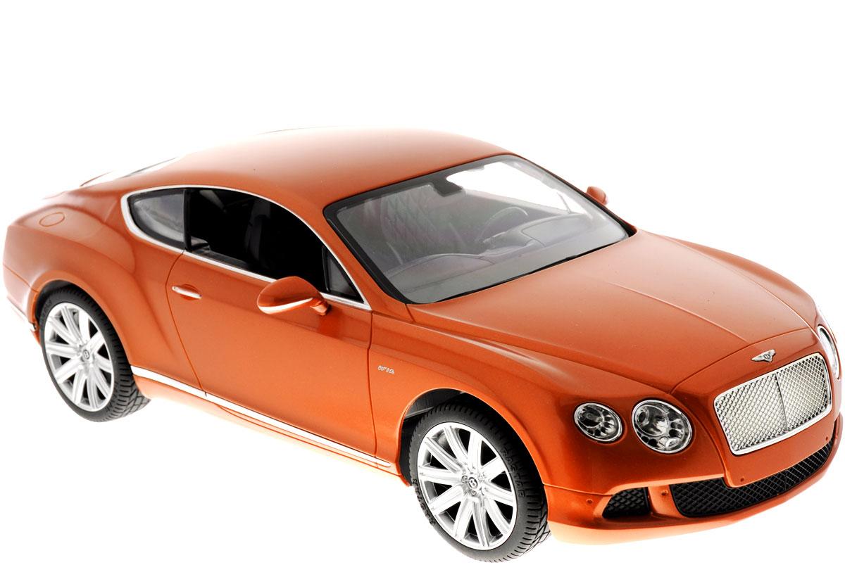 """Радиоуправляемая модель Rastar """"Bentley Continental GT Speed"""" станет отличным подарком любому мальчику! Все дети хотят иметь в наборе своих игрушек ослепительные, невероятные и крутые автомобили на радиоуправлении. Тем более, если это автомобиль известной марки с проработкой всех деталей, удивляющий приятным качеством и видом. Одной из таких моделей является автомобиль на радиоуправлении Rastar """"Bentley Continetal GT Speed"""". Это точная копия настоящего авто в масштабе 1:14. Авто обладает неповторимым провокационным стилем и спортивным характером. Потрясающая маневренность, динамика и покладистость - отличительные качества этой модели. Возможные движения: вперед, назад, вправо, влево, остановка. Имеются световые эффекты. Пульт управления работает на частоте 40 MHz. Для работы игрушки необходимы 5 батареек типа АА (не входят в комплект). Для работы пульта управления необходима 1 батарейка 9V (6F22) (не входит в комплект)."""